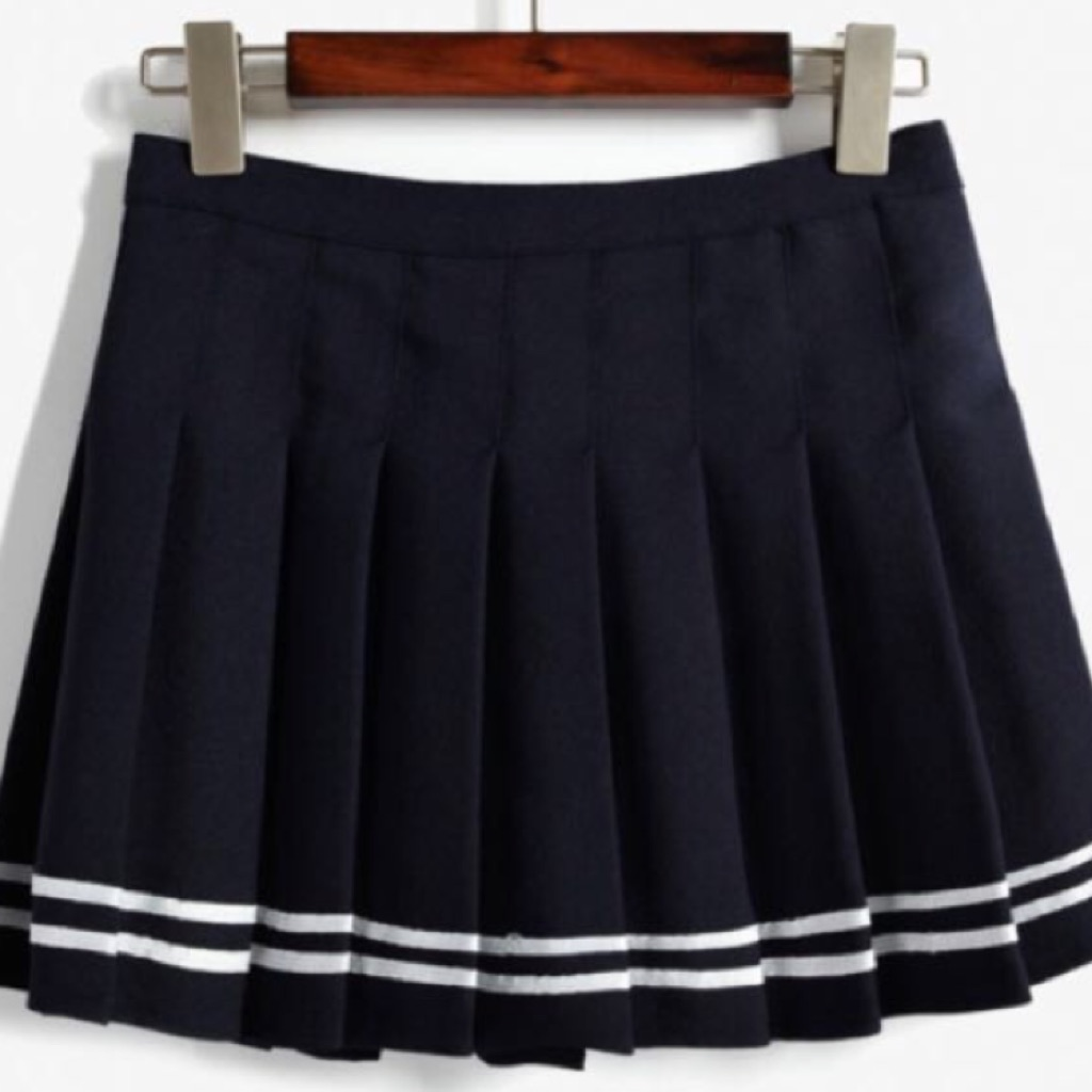 Black pleated school skirt fashion 53