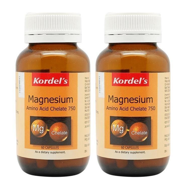Kordel's Magnesium Amino Acid Chelate 750mg 2 x 60 Capsules