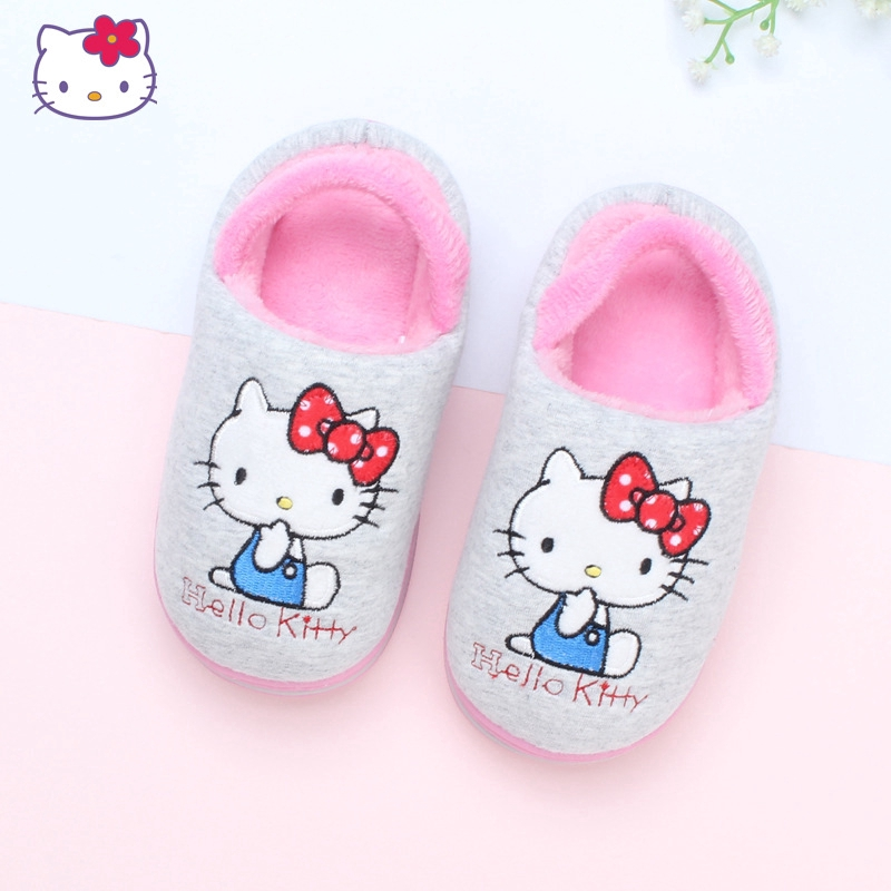 ec85bab84 [NEW] HELLO KITTY KIDS SLIPPERS -FACE BLACK K 3103[ORIGINAL] [MADE IN TAIWAN]  | Shopee Singapore