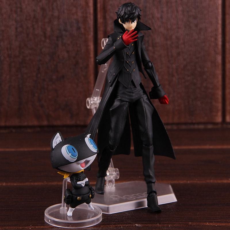 Figma 363 Persona 5 Shujinkou and Morgana Joker PVC Figure New In Box Brand New