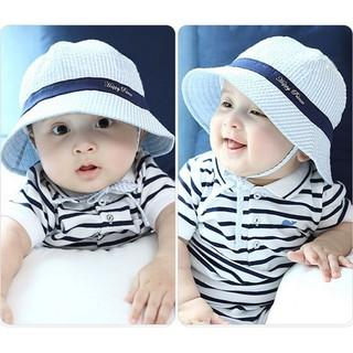 ❤HOT❤ Newborn Cap Sun Outdoor Girls Boys Beach Bucket Sun  9283417bd566