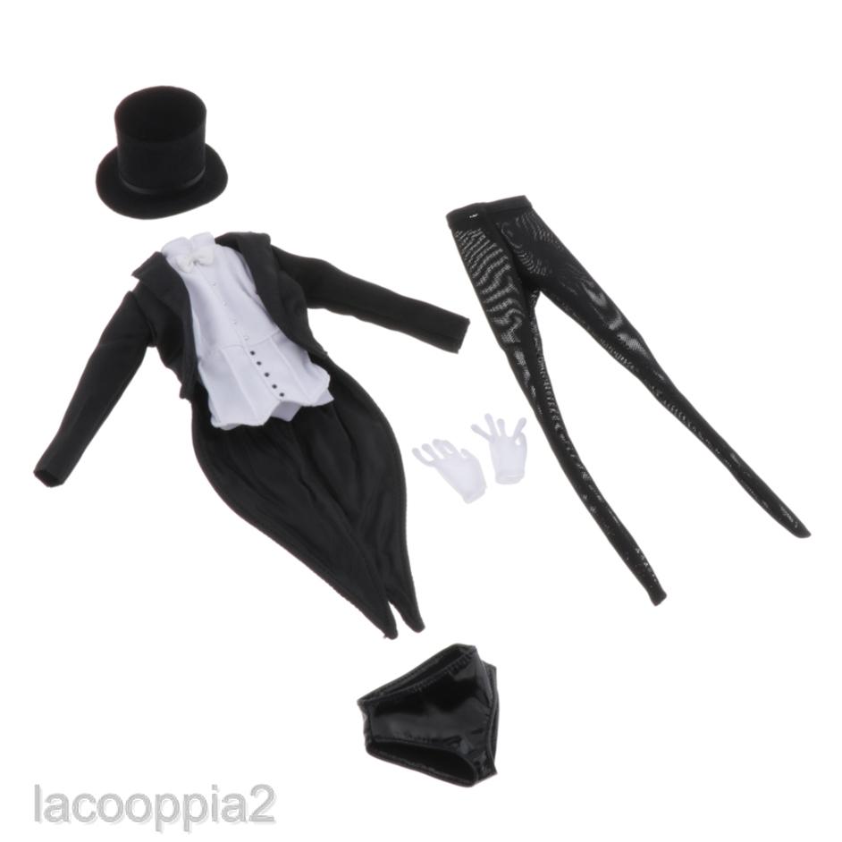 """Shirt Golves for 12/"""" Phicen //Kumik Body Hat Stocking 1//6 Solider Tuxedo"""