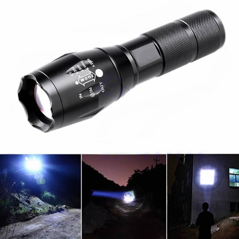 2000 Lumens CREE XML T6 LED Zoomable Flashlight Torch Skid Proof Fit AAA 18650