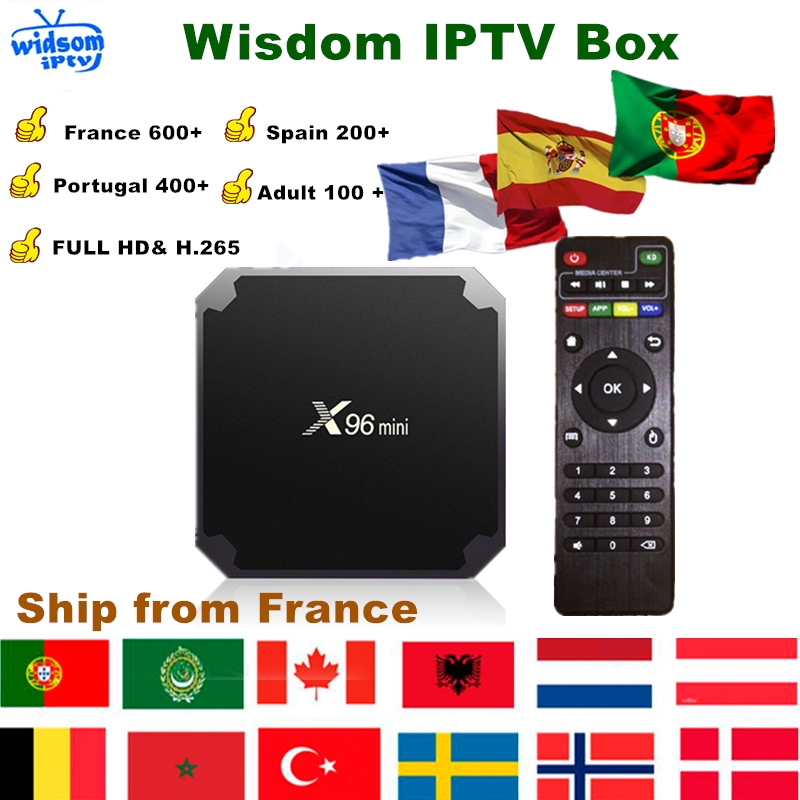 Iptv Box X96 Mini Android Tv Box+1 Year Iptv Subscription France Uk German  Arabic Dutch Poland Portugal Spain Iptv M3u