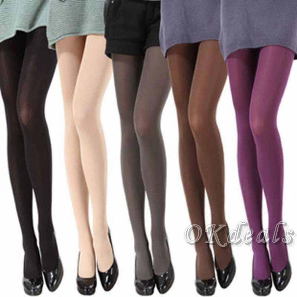 2d1d73cc2021b Women Thick 120D Footed Socks Stockings Pantyhose Opaque Tights | Shopee  Singapore