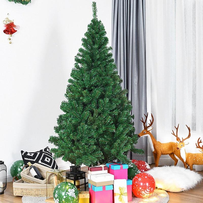 Lbsisi Life Christmas Tree Plastic Premium Artificial Christmas Tree White Tree Art Navidad Xmas Decoration Tree 4ft 5ft 6ft Shopee Singapore