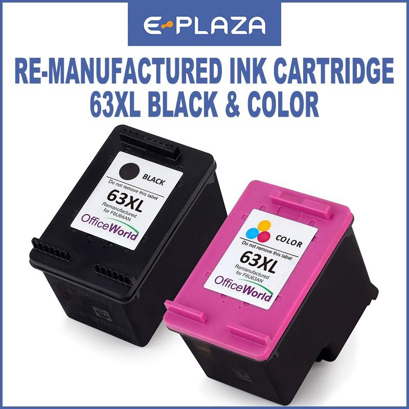 HP Re-Manufactured Ink Cartridge 63XL Black/Tri-Color