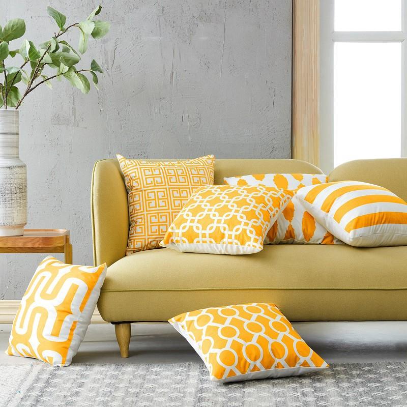 Cushion Cover Microfiber Fabric Sofa