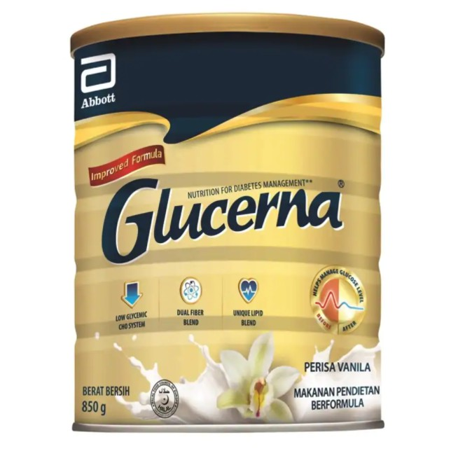 Glucerna Vanilla Triple Care 850g Glucerna Triple Care 850g (Vanilla / Chocolate /Wheat)