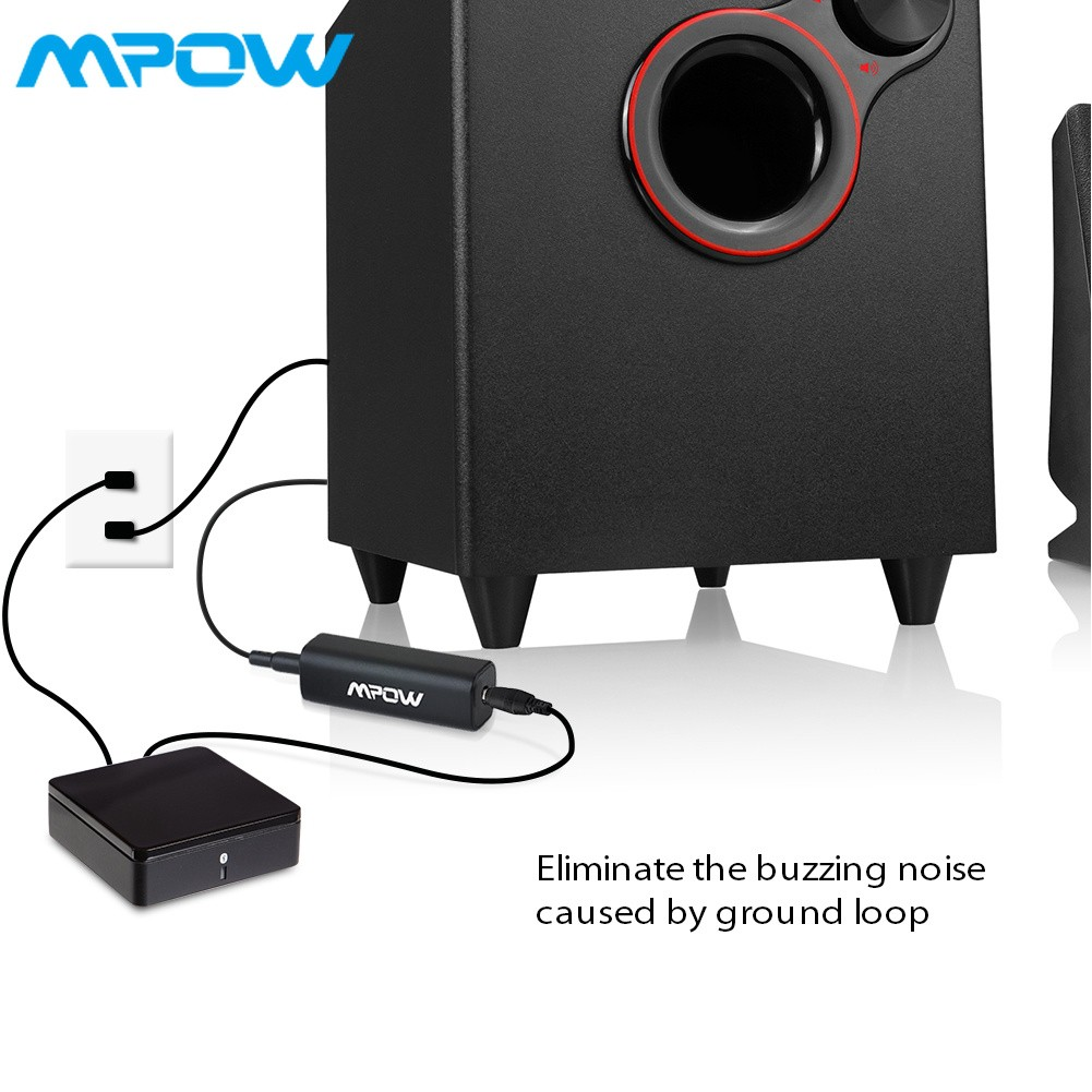 Mpow Ground Loop Noise Isolator for Car Audio Home Stereo System with 3.5mm