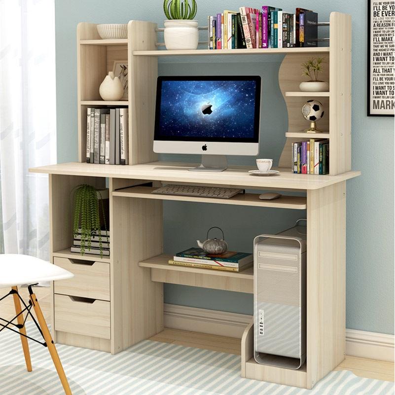 Computer Desk Desktop Home With Bookshelf Combination