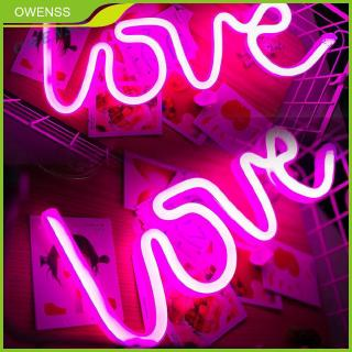 Pink Love Night Lights LED Neon Signs USB//Battery Wall for Home Decor Bedroom