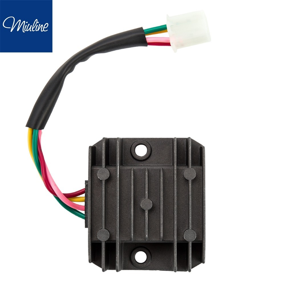 Miuline Universal 4 Wire 2 Phase Motorcycle Rectifier 12v Dc Bike Regulator Wiring Diagram For Scooter Shopee Singapore