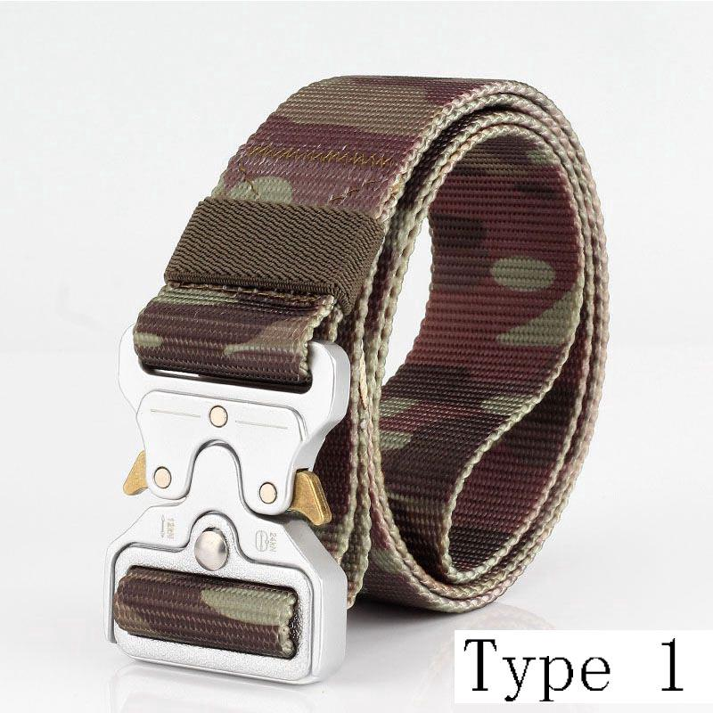 Outdoor Combat Nylon Belts Quick Release Buckle Waistband