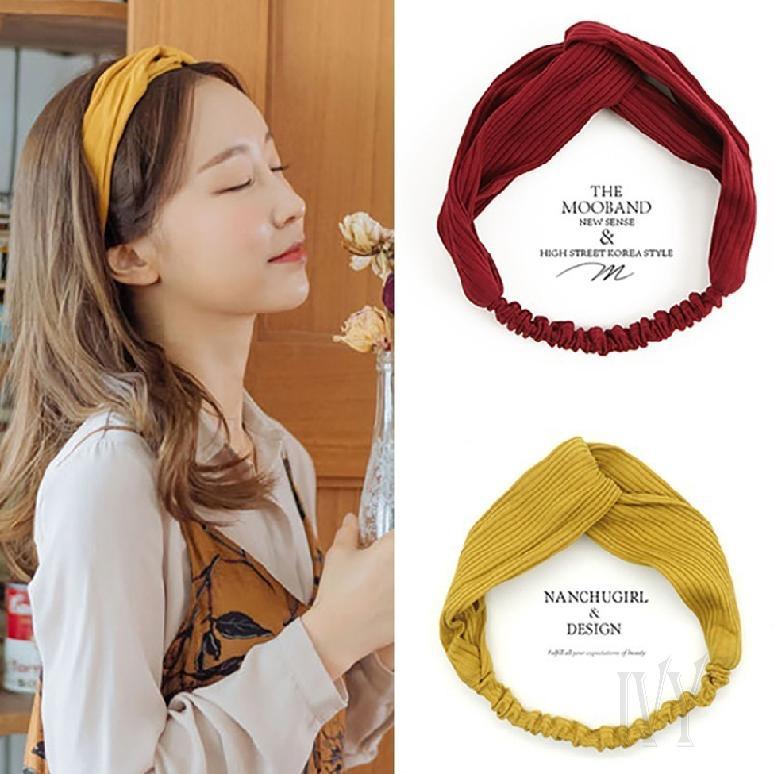 Japanese Korean Style Women's Headbands Elastic Headwraps Twisted Cute  Accessories Hair   Shopee Singapore