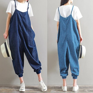 274270ea8a4b 🔝🔝Women s Playsuits Strap Loose Pants Trousers Dungaree Oversized  Jumpsuits  ZAN🔥🔥