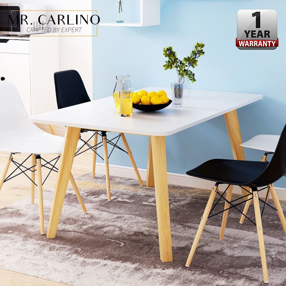Hevea Melamine Board 4 Eames Chairs