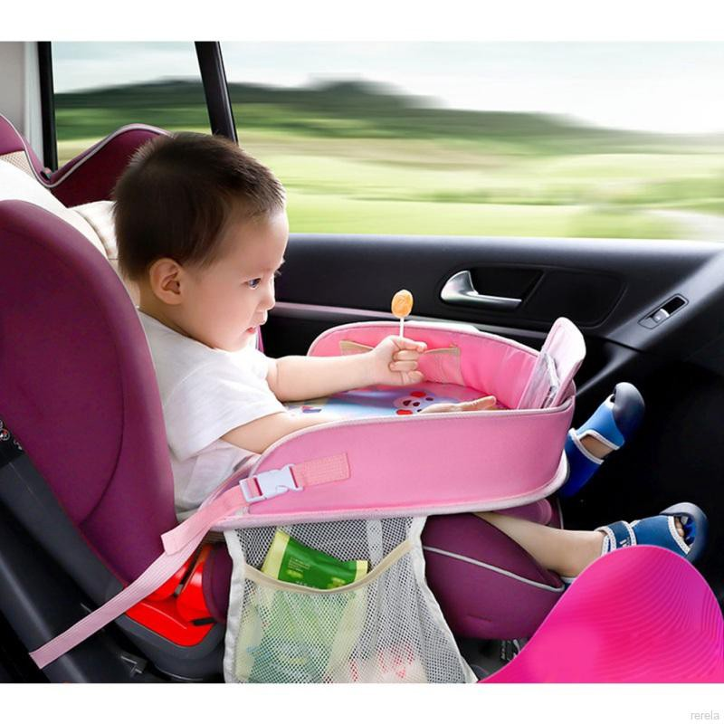 QM-Car Seat Tray Storage Table Kids Toys Drink Holder Dining Table Baby  Fence Accessories | Shopee Singapore