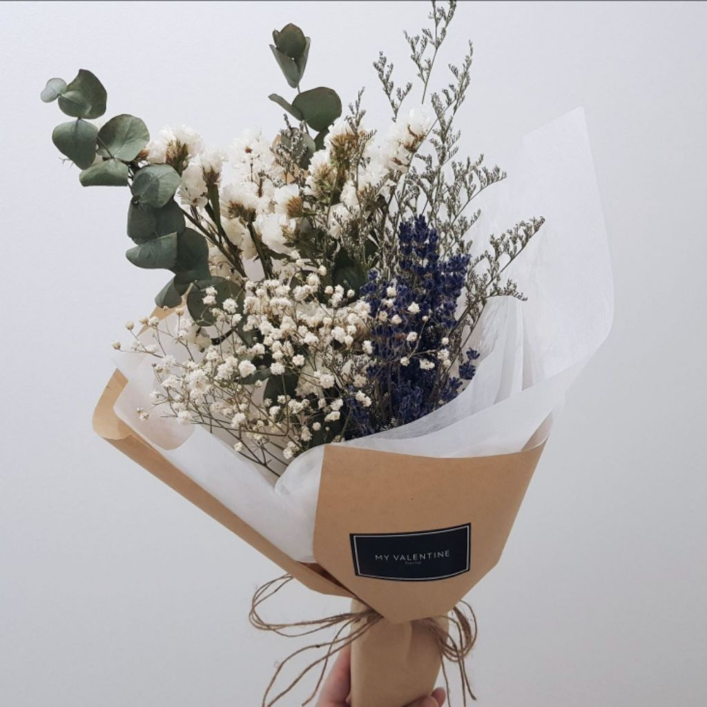 Dried Lavender Bouquet Dried Baby S Breath Dried Flowers Hand Bouquet Shopee Singapore