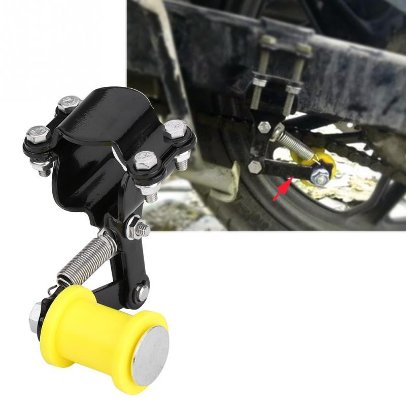 Chain Tensioner Adjuster Chain Tensioner Bolt on Roller Motorcycle Modified Accessories Universal Tool Black