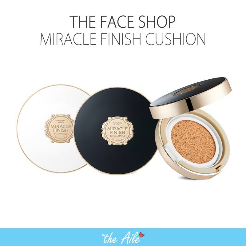 The Face Shop Miracle finish cushion white black oil control long ...