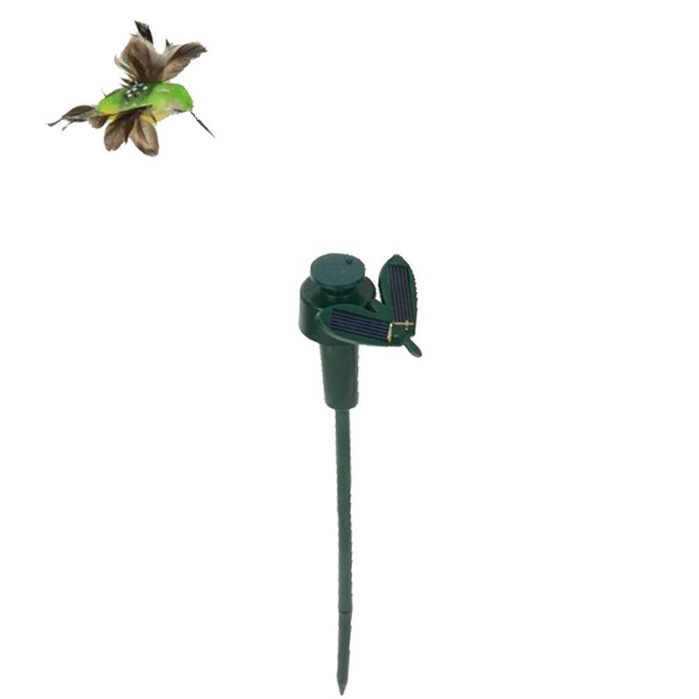 Beautiful Solar Powered Flying Fluttering Hummingbird Birds Garden Decor
