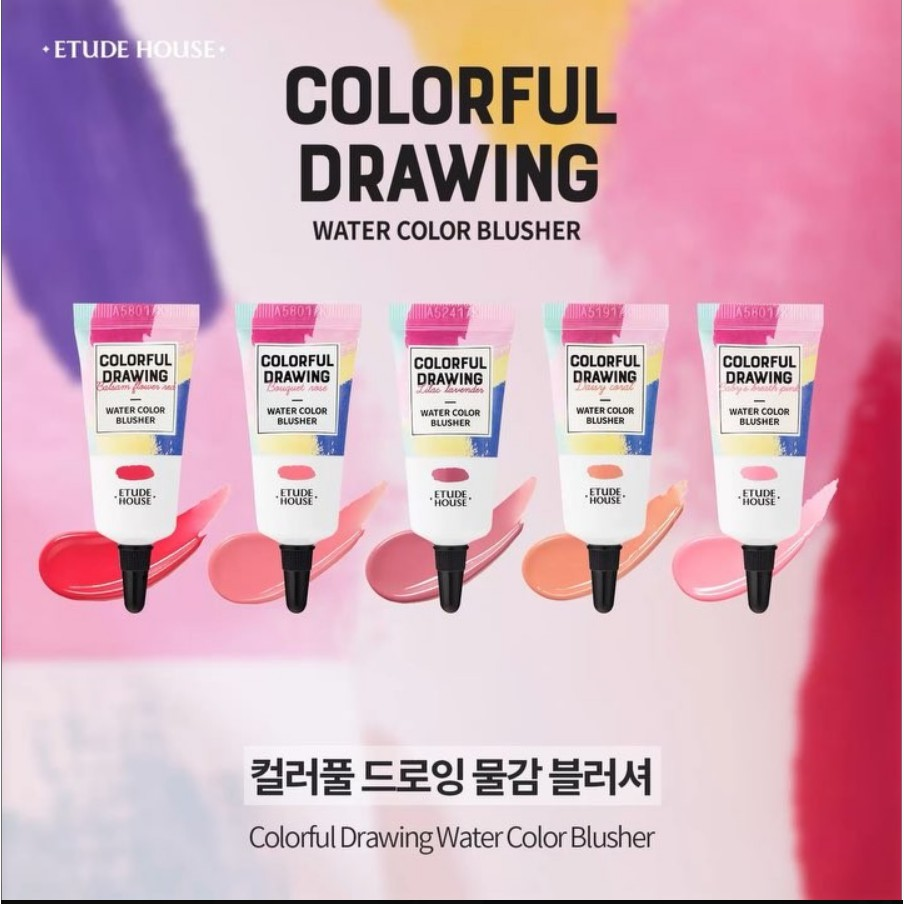 [Etude House] COLORFUL DRAWING   Water Color Blusher | Shopee Singapore