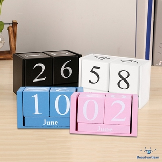 graphic about Diy Planner Organizer named Traditional Picket Perpetual Table Calendar Block Planner