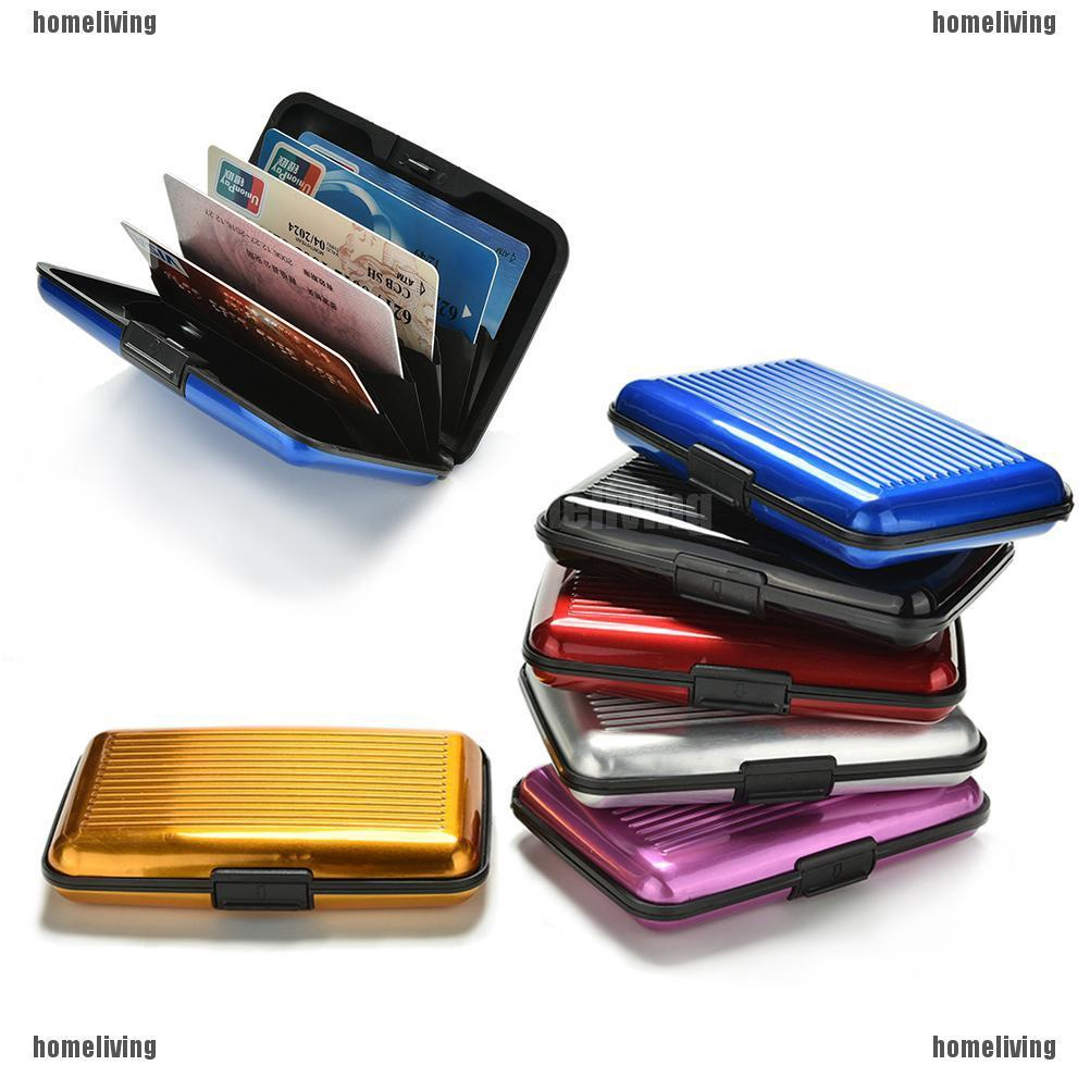 Blocking Hard Case Wallet Credit Card Anti-RFID Scanning Protect Holder FOUK