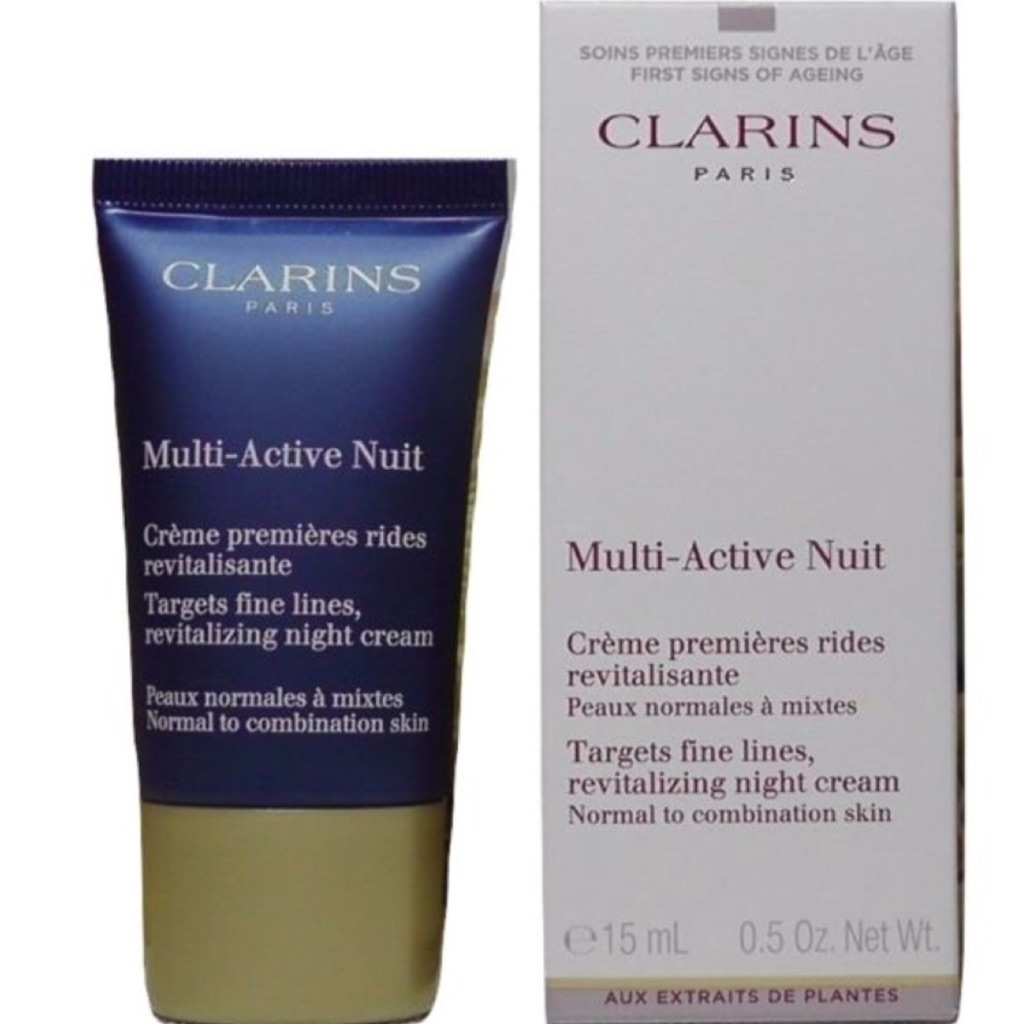Clarins Multi Active Night Hydraquench Cream Gel Normal To Combination Skin 15ml