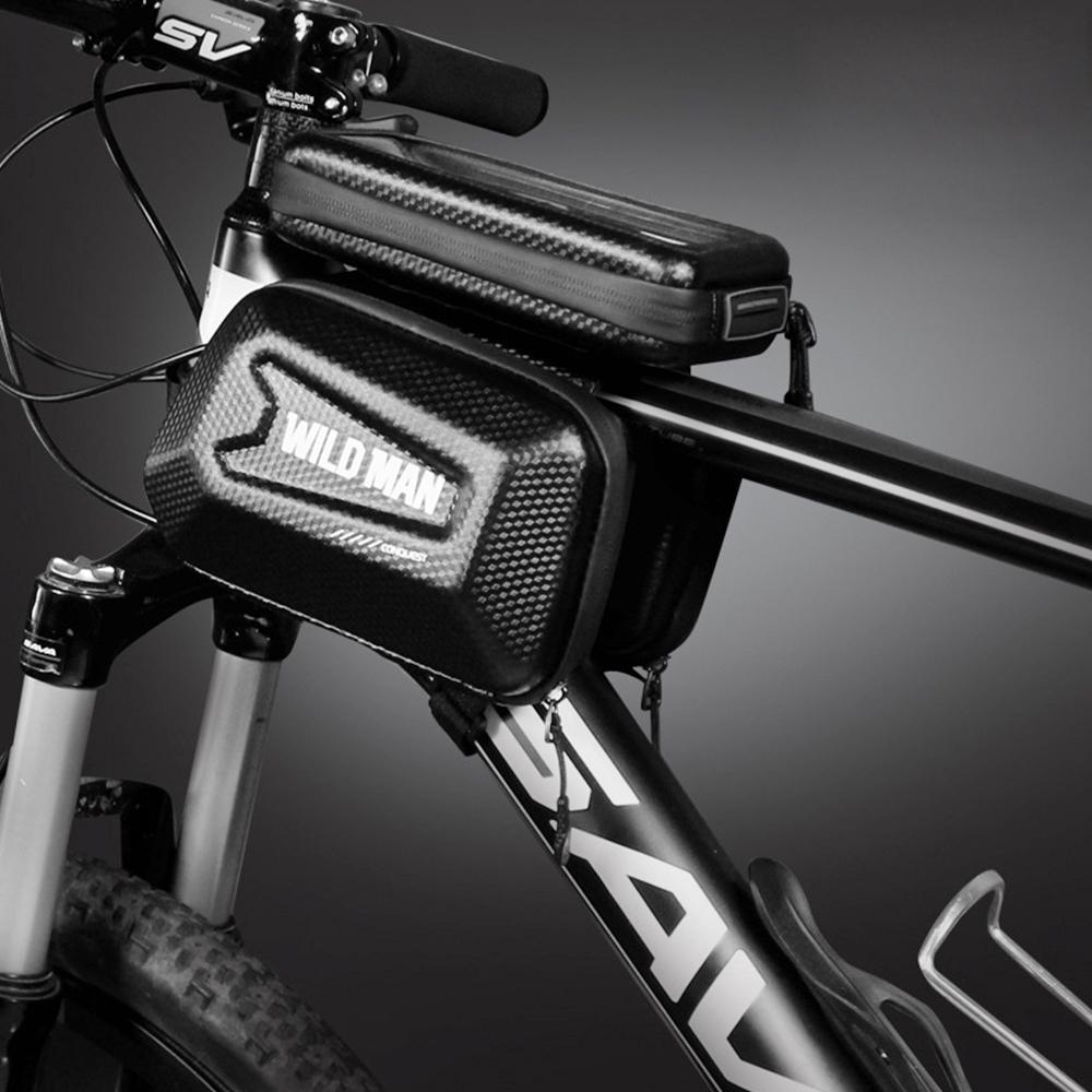 1 Pcs Bicycle Bag Mountain Bike Front Beam Bag Waterproof Riding Equipment Black