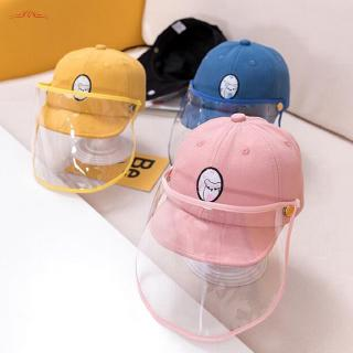 Dream Bridge Kids Protective Hat with Detachable Clear Safety Face Shield Mask Prevent Saliva Anti UV Sun Anti Dust Cap Isolation Mask Kids Boys Girls Fisherman Cap Hat