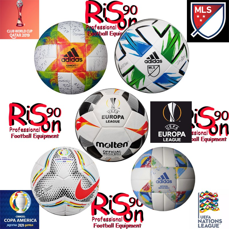 Rison90 Top Version Professional Official Matchball Club World Cup Major League Soccer Copa America Europa League Uefa Nations League Size 5 Seamless Thermal Bonding Football Soccer Shopee Singapore