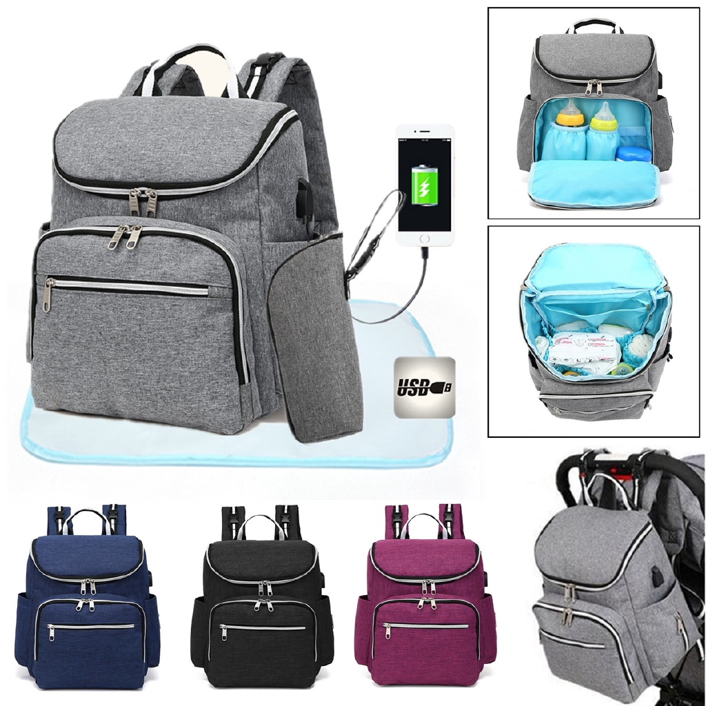 Large Waterproof Baby Nappy Changing Bag Mummy Diaper Backpack Travel Rucksack