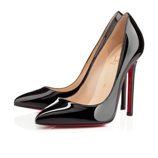 sports shoes c5203 6c21e SALE* Christian Louboutin Black Patent Leather Pigalle ...