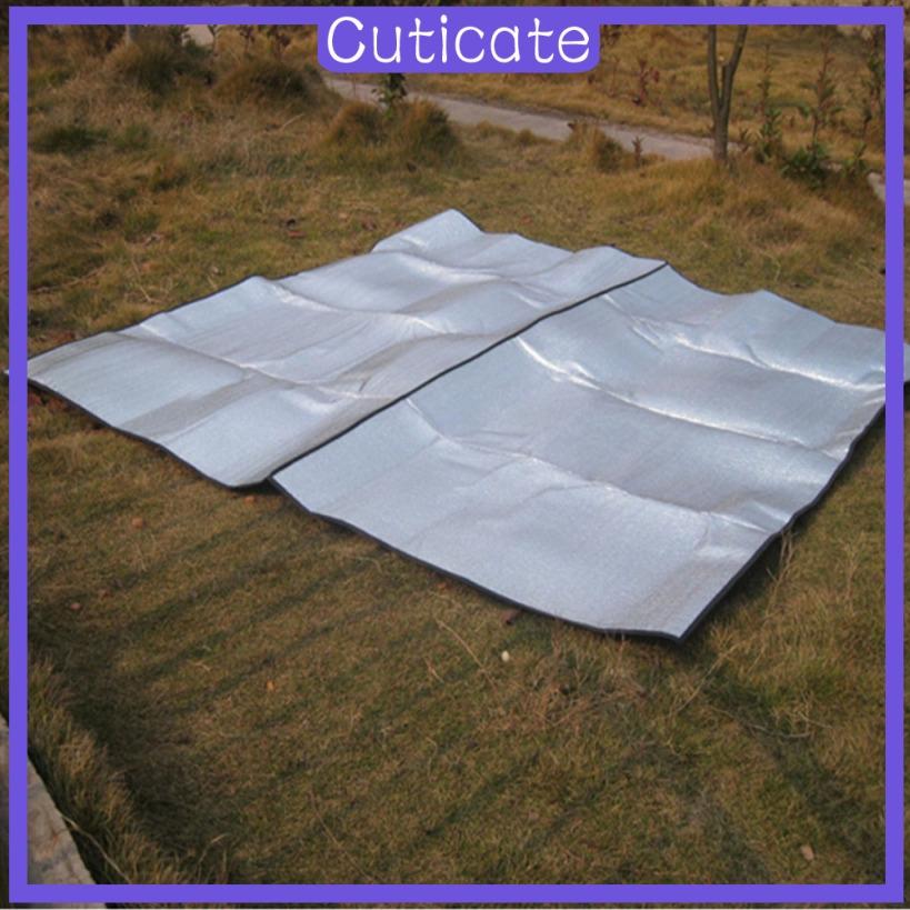 CUTICATE Aluminum Foil Camping Blanket Picnic Waterproof ...
