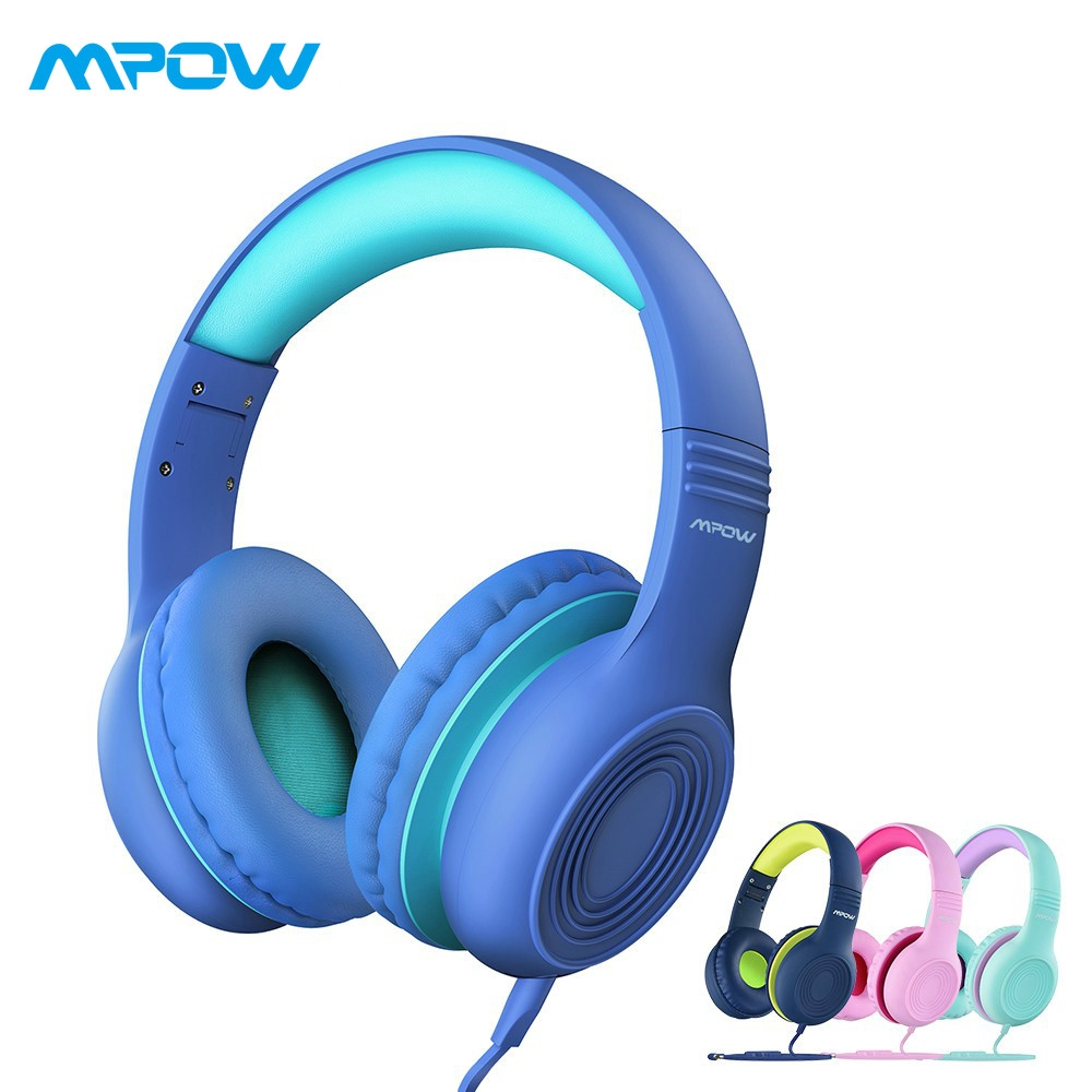 Mpow Ch6s Kids Wired Headphone Soft Over Ear Volume Limited Safe Sharing Headset For Children