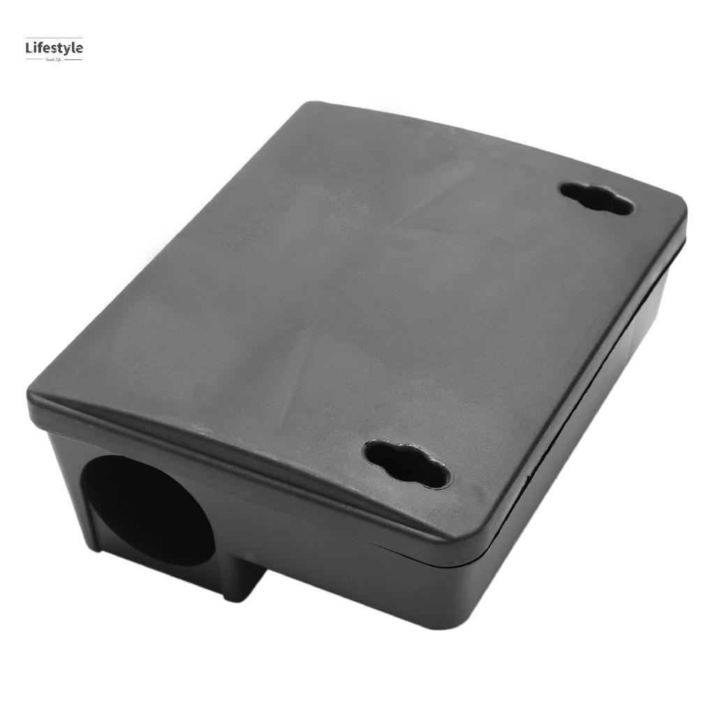 Professional Rodent Bait Block Station Box Case Trap & Key