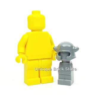 Headgear Helmet with Horns for MICROFIG LEGO Microfig Dark Bluish Gray