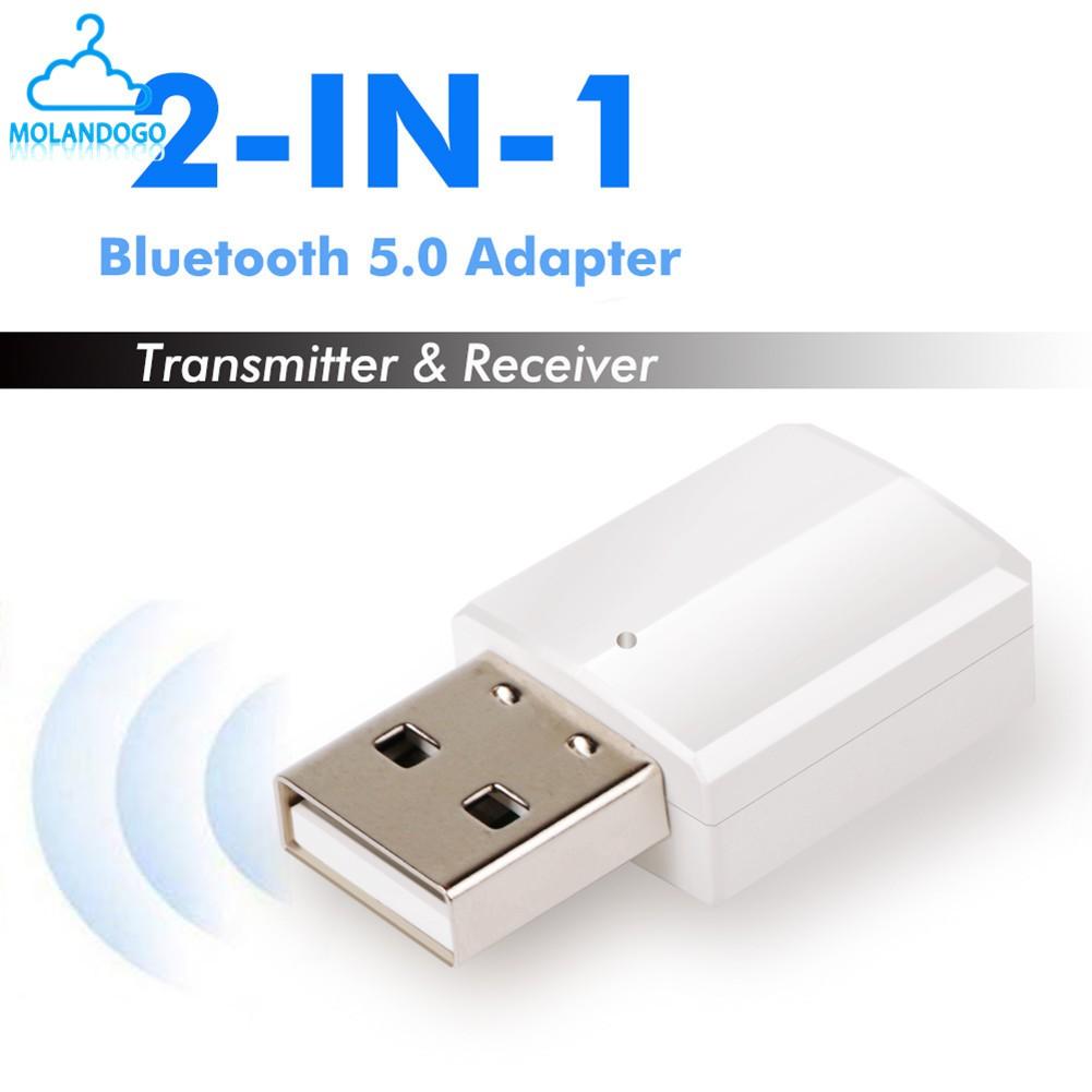 Bluetooth V5.0 Receiver Audio USB Bluetooth Transmitter Adapter For TV/PC Headphone Speaker