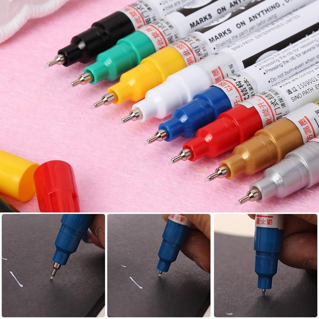 Universal 0.7mm Extra Fine Point Permanent Paint Metallic Marker Pen DIY Art