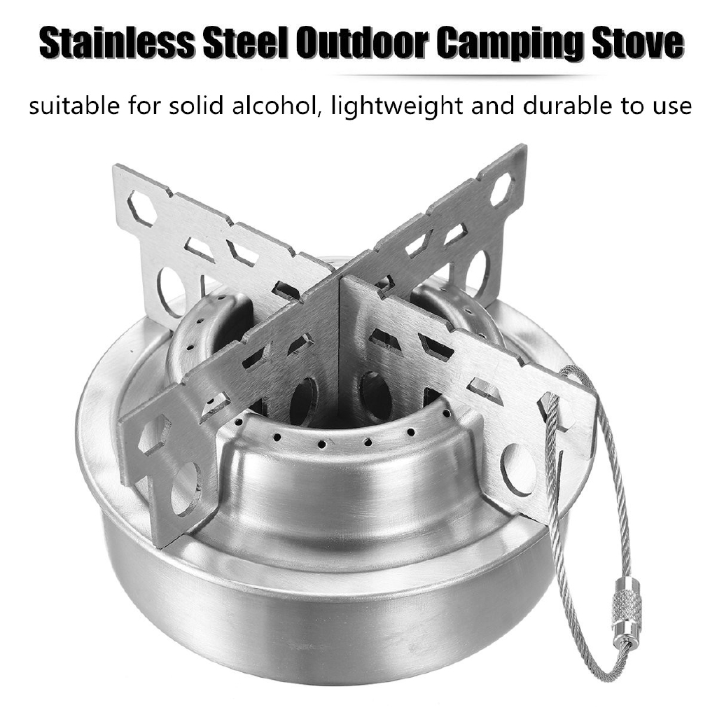Stainless Picnic Alcohol Stove Cross Stand Rack Shelf For Camping Hiking//Cooking