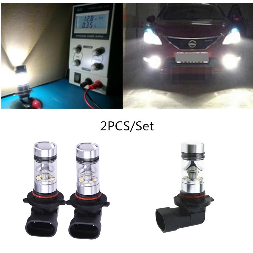 2x H10 9145 100W High Power CREE LED Fog Light Bulb 6000K HID White Driving Lamp