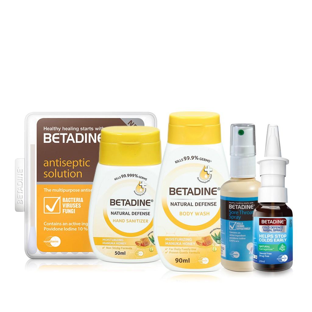Betadine Dry Powder Spray 55g Antiseptic Skin Cleanser 100ml Ointment 20 Gr Free Gift Shopee Singapore