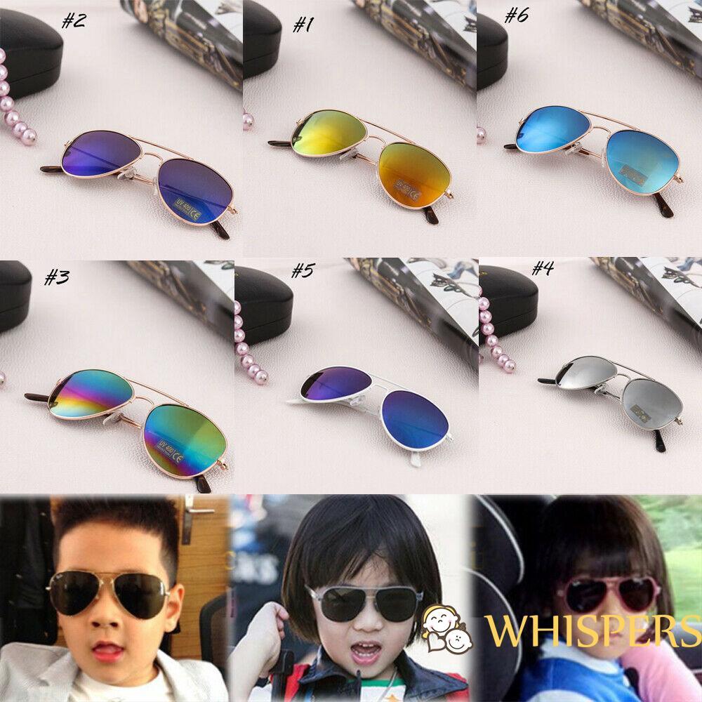 Kids ANTI-UV Sunglasses Boys Girls  Eye Glasses Shades Outdoor Goggles Eyewear