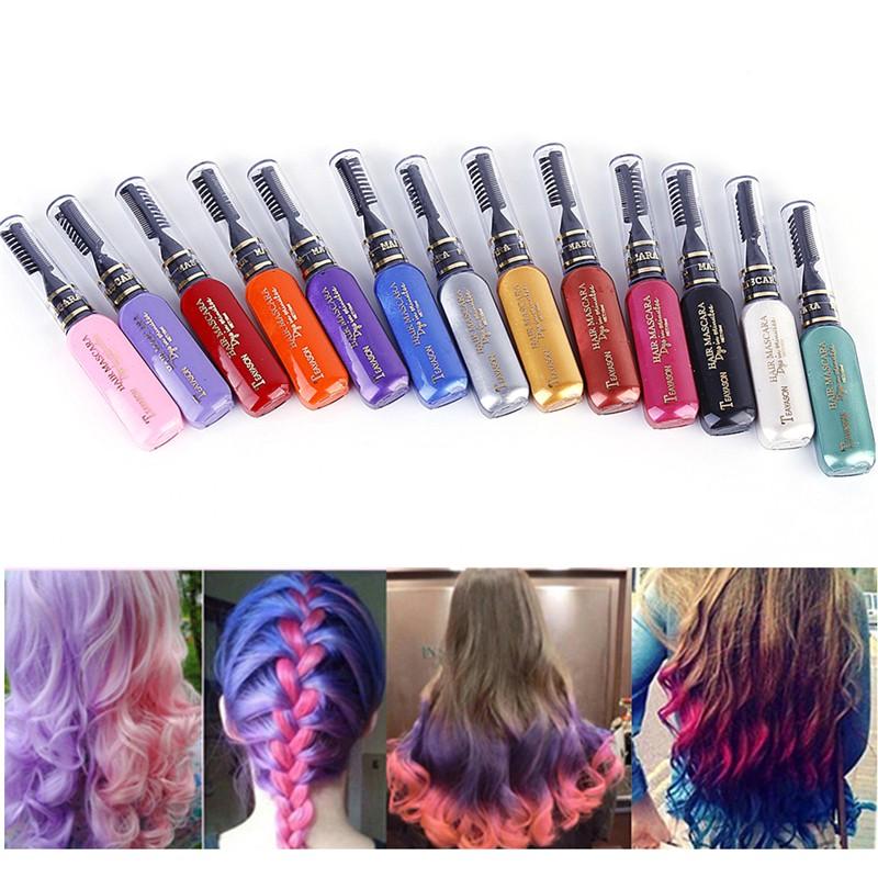 Bt Teayason Temporary Pigments Hair Chalk Non Toxic Hair Dye Mascara Diy Tool