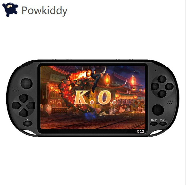 Powkiddy kid hand-held PSP X12,5 1-inch color screen with 618 built-in  games