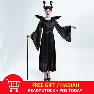 Women Dark Witch Maleficent Costumes Adult Halloween Cosplay Maleficent Dress