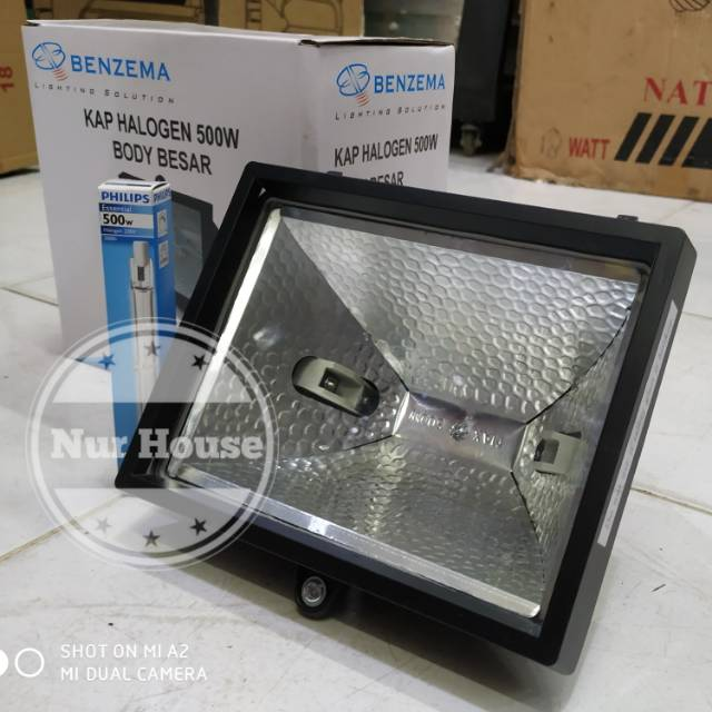 500 Watt Halogen Spotlight 300 Watt Halolite Philips Benzema Garden Lights Shopee Singapore