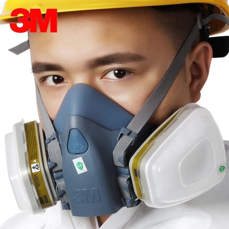 Mask Gas Dust 7502 Suit 3m 1 In Painting Industry Respirator 17 Spray
